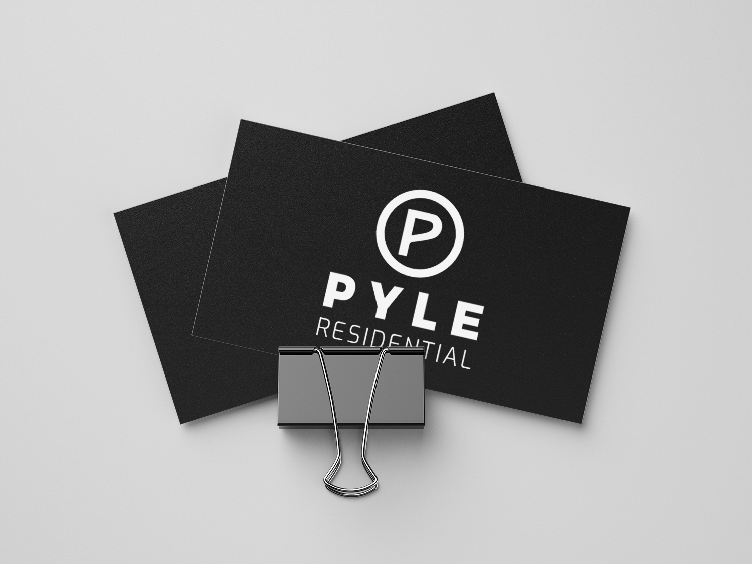 business cards with bold logo